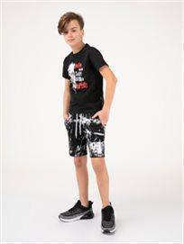 מכנסי גרסי קצרים אפקט צבע