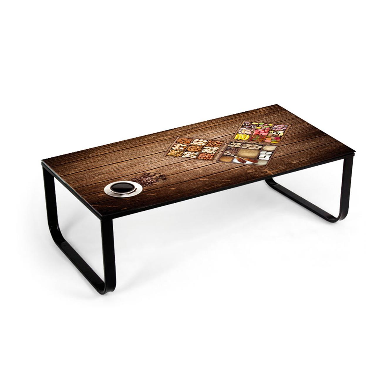 שונות שולחן סלון עשוי מתכת משולב זכוכית מחוסמת בעיצוב חדשני ZS-42