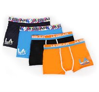 מארז 4 תחתונים מבד Modal לגבר מבית המותג LA GEAR, במגוון צבעים ומידות