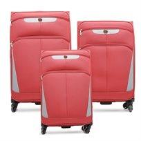 Swiss Travel Club - סט 3 מזוודות 208 בצבע בורדואפור