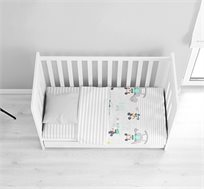 סט מצעי פלנל לתינוקות מיקי מי 100% כותנה ורדינון