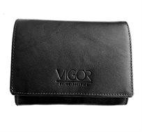 ארנק עור נפה VIGOR בגודל בינוני בשני צבעים לבחירה