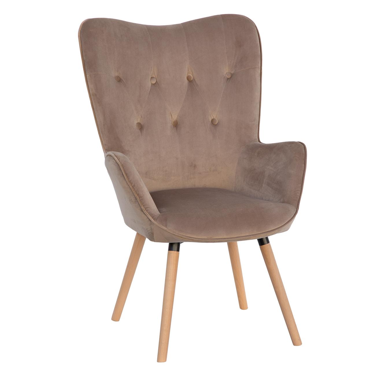 כורסא מעוצבת לסלון נוחה ומפנקת בעלת רגלי עץ בצבעים לבחירה U DESIGN - משלוח חינם - תמונה 2