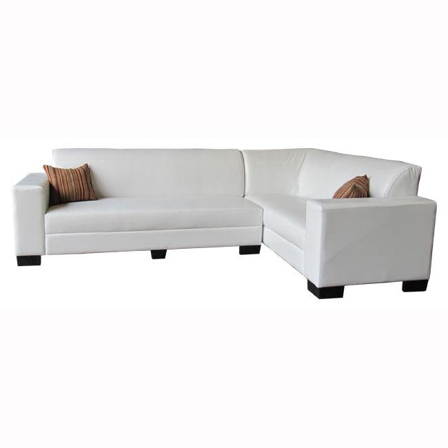 ספה פינתית בריפוד עור סינטטי עם שלדת עץ מלא