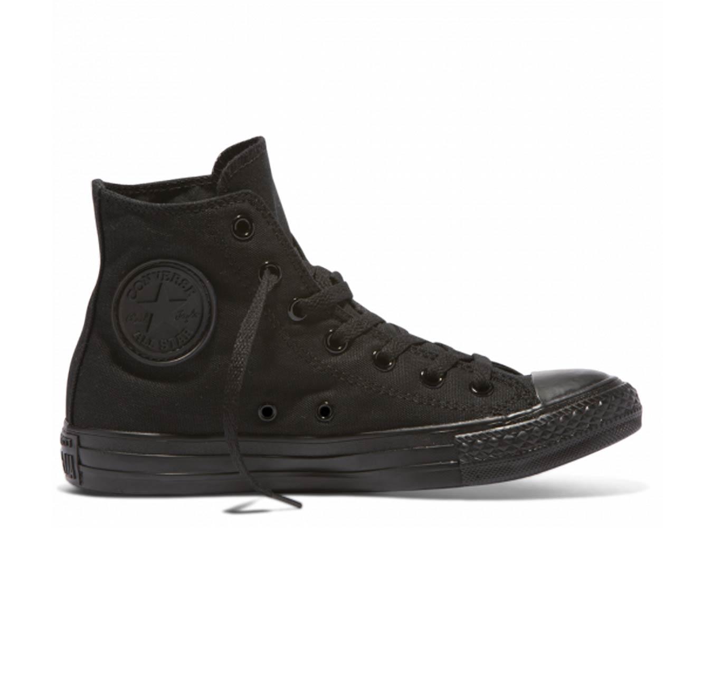 נעלי סניקרס גבוהות יוניסקס דגם 13310 - שחור