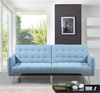 ספה לאירוח תלת מושבית עם ידיות צד נפתחת למיטה