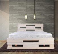 מיטה מעץ אורן מלא גושני כוללת מזרן במגוון צבעים ומידות לבחירה