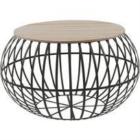 שולחן סלון Globes - בז' & שחור - משלוח חינם