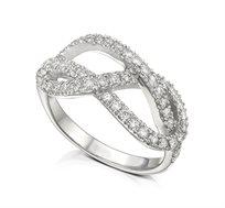 טבעת זהב 14K משובצת 55 יהלומים במשקל כולל של 0.70 נקודות