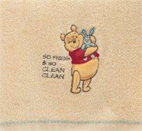 מגבת מעוטרת בדמותו של פו הדב לילדים עשויה 100% כותנה נעימה ומלטפת ורדינון