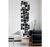 מדבקת קיר - סטריפ קוביות, יוצרת פס רציף של דוגמא לאורך או רוחב הקיר