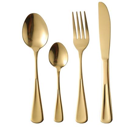 """סט סכו""""ם 24 חלקים בגימור זהב Pierre Cardin"""