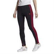 טייץ ספורטיבי לנשים אדידס - Sleek Tights שחור אדום