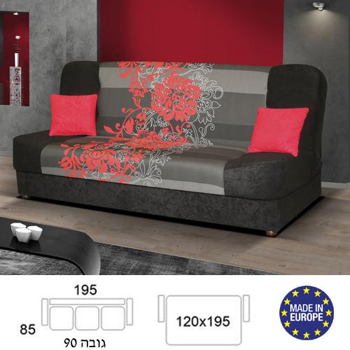 ספה אירופאית נפתחת למיטה רחבה הכוללת ארגז לאחסון מצעים דגם ליה מבית HOME DECOR  - תמונה 2
