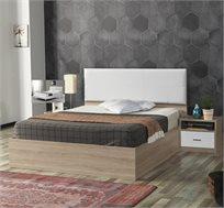 מיטה זוגית עם ראש מיטה מרופד + 2 שידות לילה תואמות דגם ננסי HOME DECOR