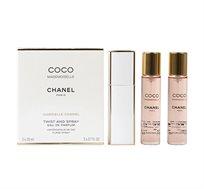 """סט 3 בשמים לאישה Coco Mademoiselle מכיל 60 מ""""ל Chanel מתאים לנסיעות"""