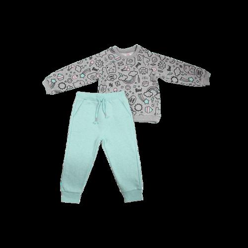 Minene חליפה (6-2 שנים) - אפור קשקושים