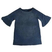 Tommy Hilfiger שמלה (12 חודשים- 4 שנים) ג'ינס שרוול מלמלה
