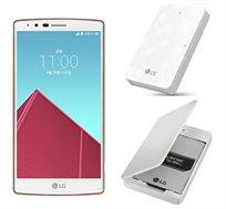 סמארטפון QUAD-HD 5.5 LG G4 זיכרון 32GB+3GB מעבד Snapdragon כולל ערכת סוללה נוספת+מטען שולחני לסוללה  - משלוח חינם!