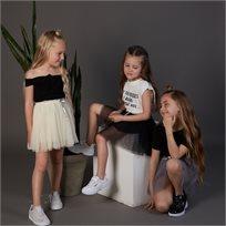 חצאית Oro לילדות (מידות 3-7 שנים) שחור טוטו