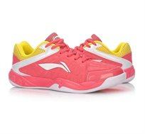 נעלי אינדור מקצועיות לנשים Li Ning Badminton Shoes בצבע ורוד