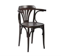 כסא עץ עם ידיות צבע ונגה דגם מניפה