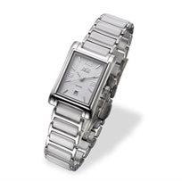 שעון יד לאישה ADI בעיצוב קלאסי, רצועה מפלדת אל חלד וזכוכית ספיר העמידה בפני שריטות