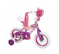 אופני BMX ורודות לבנות עם גלגלי עזר במגוון גדלים לבחירה