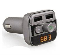 משדר FM ומקלט בלוטות` משולבים במטען USB עצמתי לרכב 3.4A צג דיגיטלי