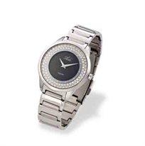 שעון יד לאישה ADI - כסוף ומשובץ אבני חן עם זכוכית ספיר