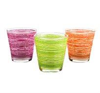 סט 6 כוסות צבעוניות CERVE תוצרת איטליה