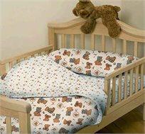 סט 3 חלקים למיטת מעבר/תינוק 100% כותנה סאטן במגוון דמויות אהובות - משלוח חינם