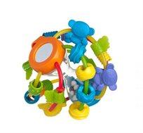 תינוקות חכמים! כדור מבוך פומבלי מבית Playgro הכולל מגוון משחקים רכים ומרעישים להפעלת חושי התינוק - משלוח חינם!