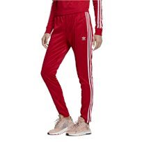 מכנסי טראק אדידס אדום לנשים - Adidas Tracksuit Bottoms