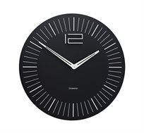 שעון קיר קלאסי בצבע שחור בשילוב עץ ומתכת