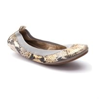 Yosi Samra Ballerina 345 - נעלי בלרינה בדוגמא מנוחשת