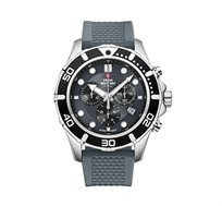 שעון כרונוגרף שוויצרי לגבר SWISS MILITARY עשוי פלדת אל חלד עמיד במים עד 100M