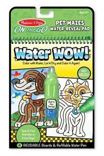 חוברת טוש המים מבוך חיות מחמד