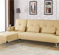 ספה פינתית עם שזלונג עשויה מפשתן ונפתחת למיטה גדולה במיוחד ובמבחר צבעים דגם יותם LEONARDO