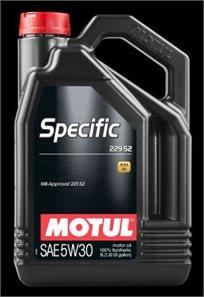 שמן מנוע Specific 229.52 5W30 5L 5W30 Motul