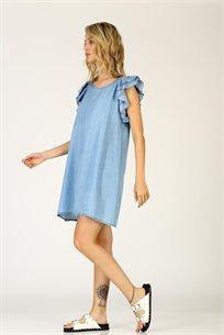 שמלה ג'ינס שרוול מלמלה - CUBiCA