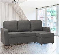 מערכת ישיבה פינתית מודולארית נפתחת למיטה עם ארגז מצעים דגם מיילי HOME DECOR