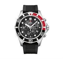 שעון יד שוויצרי לגבר SWISS MILITARY בעיצוב ספורטיבי עשוי פלדת אל חלד ועמיד במים עד 100 מטר