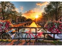 פזל 1000 חלקים - אופניים שקיעה באמסטרדם