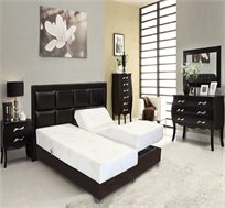 מיטה זוגית חשמלית מתכווננת בעלת מזרנים מסדרת בארוקו דגם מלבנים מבית VITORIO DIVAN