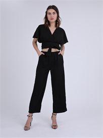 מכנסיים שחורות ג'יה שחור סטייל ריבר