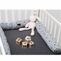 Babymitmit סדין למיטת תינוק-פחם