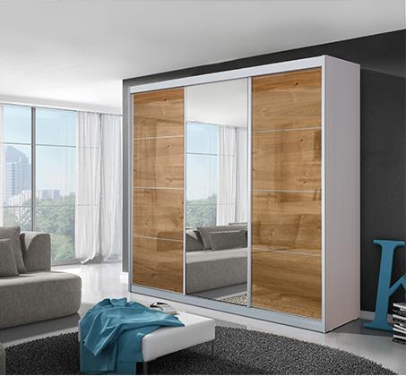 ארון הזזה 3 דלתות עם דלת מראה דגם אלה