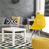 כסא מעוצב לפינת האוכל עם רגליי עץ יציבות
