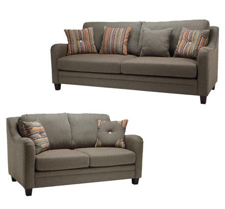 מערכת ישיבה הכוללת ספה דו מושבית ותלת מושבית דגם ווילאס